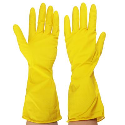 Купить перчатки резиновые желтые, размер L