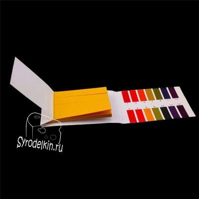 Лакмусовые полоски для pH-тестов 80 штук от 1 до 14 pH